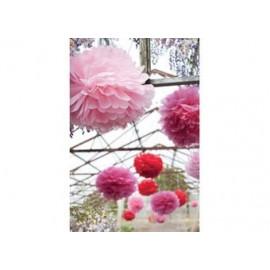 set de 3 pompons festifs 'rouge' - small