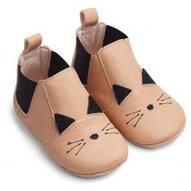 Chaussons en cuir Edith - Cat rose