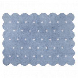 Tapis lavable Biscuit - Blue - 120 x 160 cm