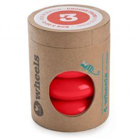 Set de 4 roues pour Mini-Flip 3-en-1 Mix & Match - Rouge