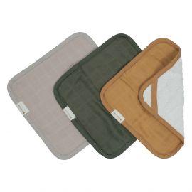 Set de 3 gants de toilette - Olive garden