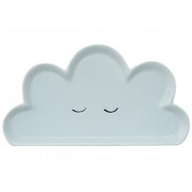assiette en céramique nuage Smilla blue